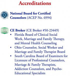 NBCC Approved, CE Broker Provider